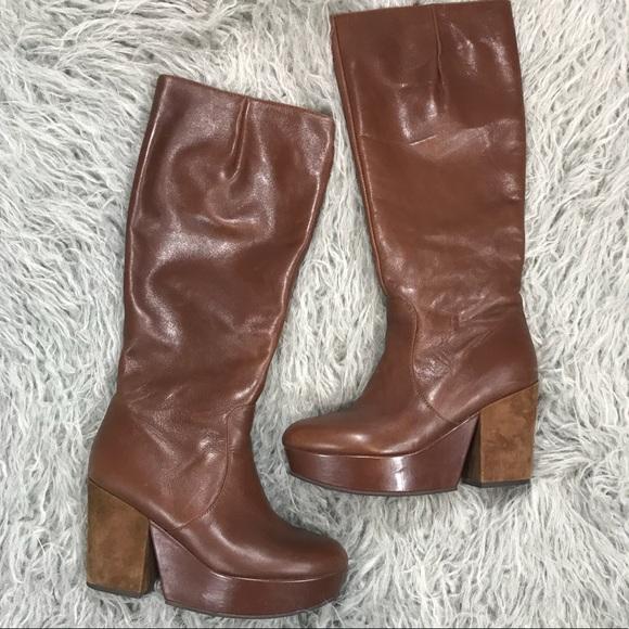 da75f49f0e67 Staccato Vintage Style Knee High Platform Boots. M 5a6115bd2ab8c582ed5695a3